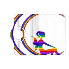 Rainbow Fairy Relaxing On The Rainbow Crescent Moon Kindle Fire Hd (2013) Flip 360 Case by Nexatart