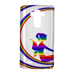 Rainbow Fairy Relaxing On The Rainbow Crescent Moon Lg G4 Hardshell Case by Nexatart