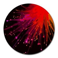 Big Bang Round Mousepads by ValentinaDesign