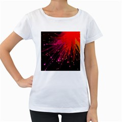 Big Bang Women s Loose Fit T Shirt (white) by ValentinaDesign