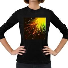 Big Bang Women s Long Sleeve Dark T Shirts by ValentinaDesign