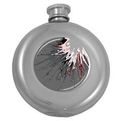 Big Bang Round Hip Flask (5 Oz) by ValentinaDesign