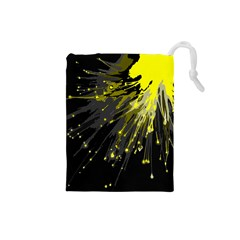 Big Bang Drawstring Pouches (small)  by ValentinaDesign