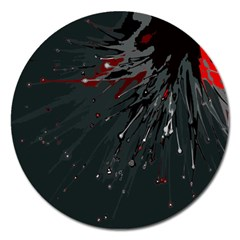 Big Bang Magnet 5  (round) by ValentinaDesign