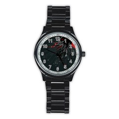 Big Bang Stainless Steel Round Watch by ValentinaDesign
