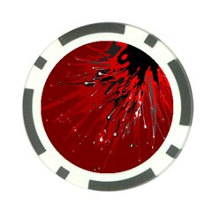 Big Bang Poker Chip Card Guard by ValentinaDesign