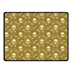 Skull Pattern 1 Fleece Blanket (small) by tarastyle