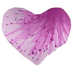 Big Bang Large 19  Premium Heart Shape Cushions by ValentinaDesign