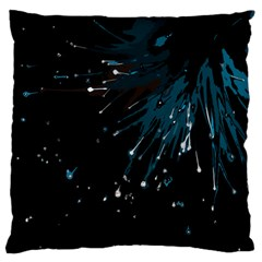 Big Bang Large Flano Cushion Case (one Side) by ValentinaDesign