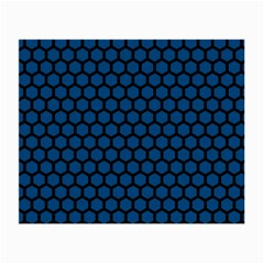 Blue Dark Navy Cobalt Royal Tardis Honeycomb Hexagon Small Glasses Cloth by Mariart