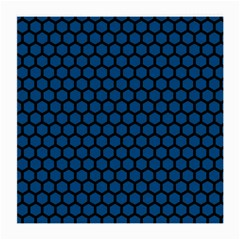 Blue Dark Navy Cobalt Royal Tardis Honeycomb Hexagon Medium Glasses Cloth by Mariart