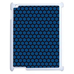 Blue Dark Navy Cobalt Royal Tardis Honeycomb Hexagon Apple Ipad 2 Case (white) by Mariart