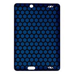 Blue Dark Navy Cobalt Royal Tardis Honeycomb Hexagon Amazon Kindle Fire Hd (2013) Hardshell Case by Mariart