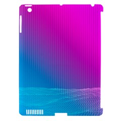With Wireframe Terrain Modeling Fabric Wave Chevron Waves Pink Blue Apple Ipad 3/4 Hardshell Case (compatible With Smart Cover) by Mariart