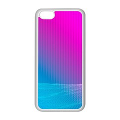 With Wireframe Terrain Modeling Fabric Wave Chevron Waves Pink Blue Apple Iphone 5c Seamless Case (white) by Mariart