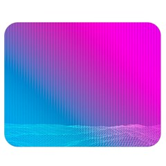 With Wireframe Terrain Modeling Fabric Wave Chevron Waves Pink Blue Double Sided Flano Blanket (medium)  by Mariart