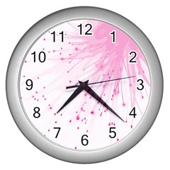 Big Bang Wall Clocks (silver)  by ValentinaDesign
