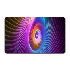 Abstract Fractal Bright Hole Wave Chevron Gold Purple Blue Green Magnet (rectangular) by Mariart