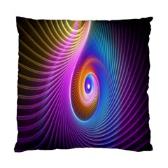 Abstract Fractal Bright Hole Wave Chevron Gold Purple Blue Green Standard Cushion Case (two Sides) by Mariart