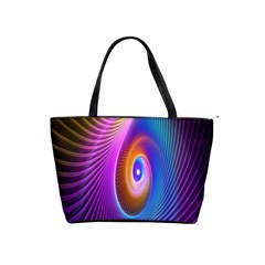 Abstract Fractal Bright Hole Wave Chevron Gold Purple Blue Green Shoulder Handbags by Mariart