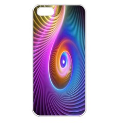 Abstract Fractal Bright Hole Wave Chevron Gold Purple Blue Green Apple Iphone 5 Seamless Case (white) by Mariart