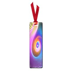 Abstract Fractal Bright Hole Wave Chevron Gold Purple Blue Green Small Book Marks by Mariart