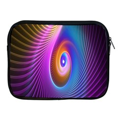 Abstract Fractal Bright Hole Wave Chevron Gold Purple Blue Green Apple Ipad 2/3/4 Zipper Cases by Mariart