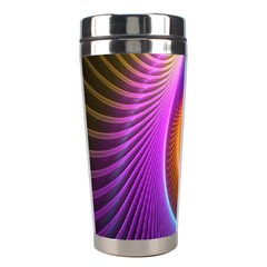 Abstract Fractal Bright Hole Wave Chevron Gold Purple Blue Green Stainless Steel Travel Tumblers by Mariart