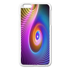 Abstract Fractal Bright Hole Wave Chevron Gold Purple Blue Green Apple Iphone 6 Plus/6s Plus Enamel White Case by Mariart
