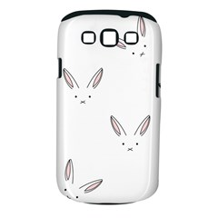 Bunny Line Rabbit Face Animals White Pink Samsung Galaxy S Iii Classic Hardshell Case (pc+silicone) by Mariart