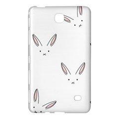 Bunny Line Rabbit Face Animals White Pink Samsung Galaxy Tab 4 (8 ) Hardshell Case  by Mariart