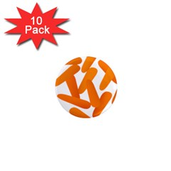 Carrot Vegetables Orange 1  Mini Magnet (10 Pack)  by Mariart