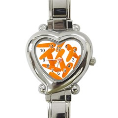Carrot Vegetables Orange Heart Italian Charm Watch by Mariart