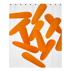 Carrot Vegetables Orange Shower Curtain 60  X 72  (medium)  by Mariart