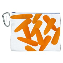 Carrot Vegetables Orange Canvas Cosmetic Bag (xxl) by Mariart