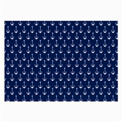 Blue White Anchor Large Glasses Cloth (2 Side) by Mariart