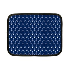 Blue White Anchor Netbook Case (small)  by Mariart