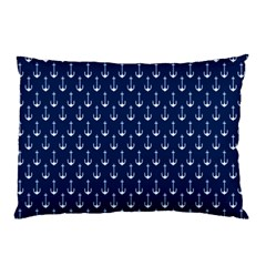 Blue White Anchor Pillow Case by Mariart