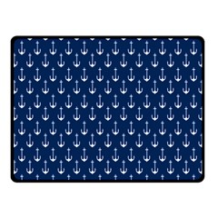 Blue White Anchor Fleece Blanket (small) by Mariart