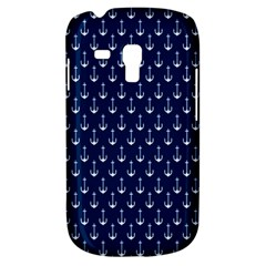Blue White Anchor Galaxy S3 Mini by Mariart