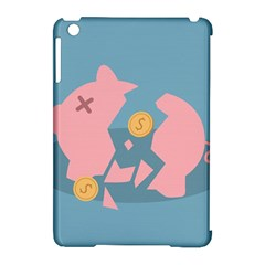 Coins Pink Coins Piggy Bank Dollars Money Tubes Apple Ipad Mini Hardshell Case (compatible With Smart Cover) by Mariart