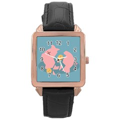 Coins Pink Coins Piggy Bank Dollars Money Tubes Rose Gold Leather Watch  by Mariart