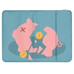 Coins Pink Coins Piggy Bank Dollars Money Tubes Samsung Galaxy Tab 7  P1000 Flip Case by Mariart