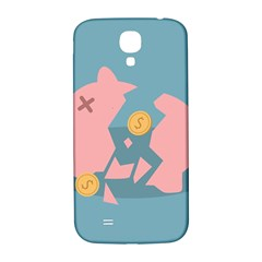 Coins Pink Coins Piggy Bank Dollars Money Tubes Samsung Galaxy S4 I9500/i9505  Hardshell Back Case by Mariart
