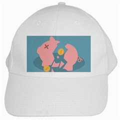 Coins Pink Coins Piggy Bank Dollars Money Tubes White Cap by Mariart