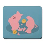 Coins Pink Coins Piggy Bank Dollars Money Tubes Large Mousepads Front
