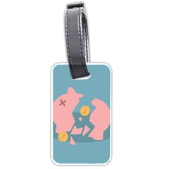 Coins Pink Coins Piggy Bank Dollars Money Tubes Luggage Tags (two Sides) by Mariart