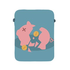 Coins Pink Coins Piggy Bank Dollars Money Tubes Apple Ipad 2/3/4 Protective Soft Cases by Mariart