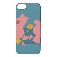 Coins Pink Coins Piggy Bank Dollars Money Tubes Apple Iphone 5s/ Se Hardshell Case by Mariart