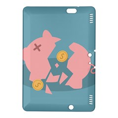 Coins Pink Coins Piggy Bank Dollars Money Tubes Kindle Fire Hdx 8 9  Hardshell Case by Mariart